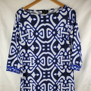 Women's Laundry by Design Blue black Print Dress